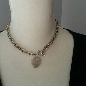 Jewelry - Silver Chain with Heart Pendant